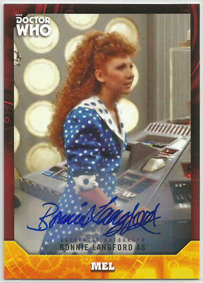 Doctor Who Signature Series 2017 ~BONNIE LANGFORD Red Auto/Autograph Card (#1/5)