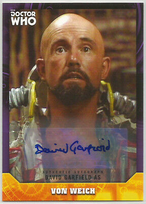 Doctor Who Signature Series 2017 ~ DAVID GARFIELD Purple Autograph Card (#02/10)