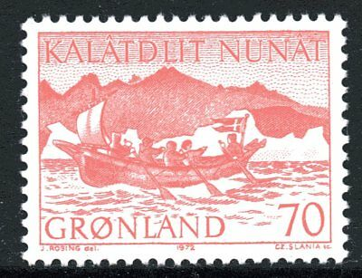 Greenland 1972 70 Ore Women's Boat Mint Unhinged