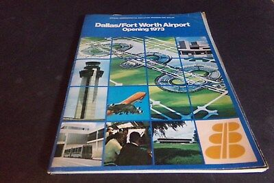 Vintage Dallas Fort Worth Airport Opening 1973 w Maps & Future Outlook 2001 DFW