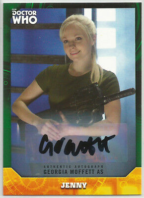 Doctor Who Signature Series 2017 ~ GEORGIA MOFFETT Green Autograph Card (#07/50)