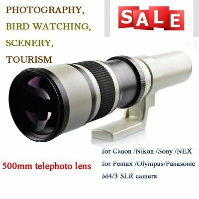 Super Telephoto Lens With T2 Adapter For Canon 500mm F/6.3-32 Manual Zoom LenBE