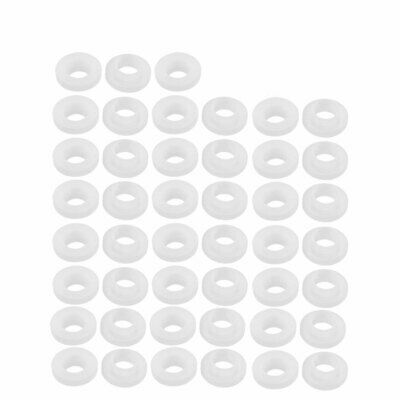45pcs Clear Silicone Round Flat Washer Assortment Size 9x19x3mm Flat Washer