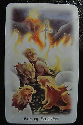 Ace of Swords The Celtic Dragon Tarot Single Replacement Card Excellent