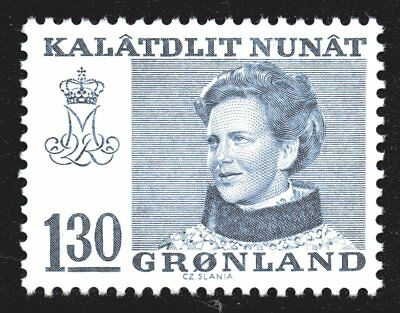 Greenland 1977 130 Ore Blue Queen Margrethe II Mint Unhinged