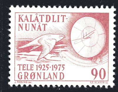Greenland 1975 90 Ore Telecommunications Mint Unhinged