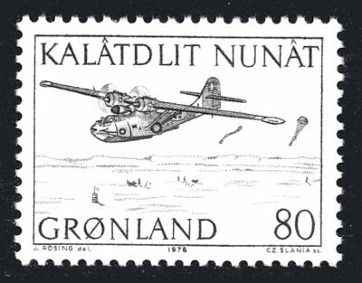 Greenland 1976 80 Ore Catalina Mail Aircraft Mint Unhinged