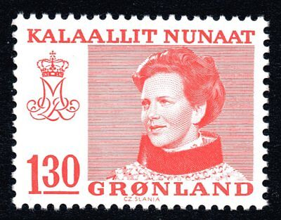 Greenland 1979 130 Ore Red Queen Margrethe II Mint Unhinged