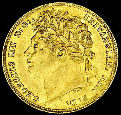 KING GEORGE THE IIII 1821 GOLD SOVEREIGN Near UNC