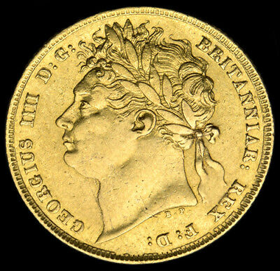 KING GEORGE THE IIII 1824 GOLD SOVEREIGN Rarer Year...