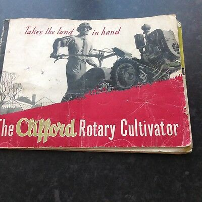 Vintage Brochure The Clifford Rotary Cultivator (Very Poor Condition)