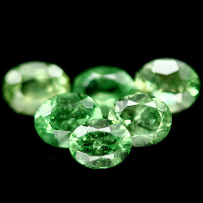 2.54 Ct Natural! 8Pcs Green Tanzania Tsavorite Garnet Oval