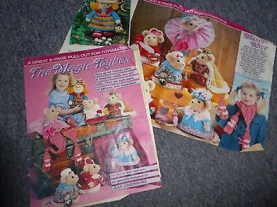 JEAN GREENHOWE MAGIC TOYBOX Knitting Sewing Pattern Scarecrow Mice ...
