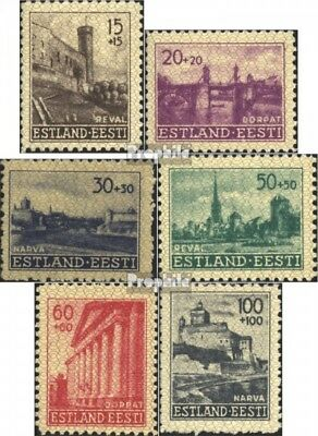 Estonia (German.cast.2.world.) 4-9 (complete issue) with hinge 1941 Building