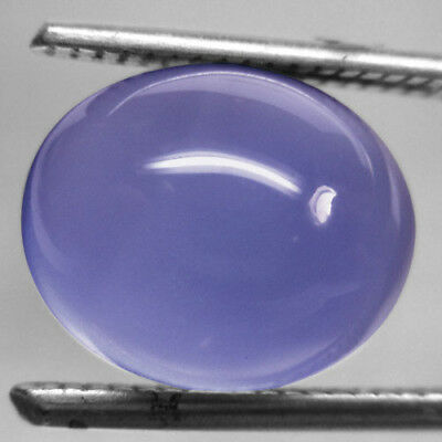 Beautiful 2.56 Ct. Oval Cabochon Blue Chalcedony Natural L5513
