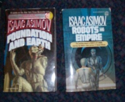 Lot of 3 Isaac Asimov paperbacks - Foundation and Earth, Robots and Empire, Edge