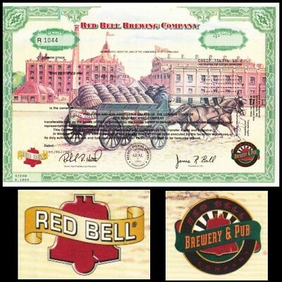 Red Bell Brewing Company PA 2002 Stock Certificate (muticolored)