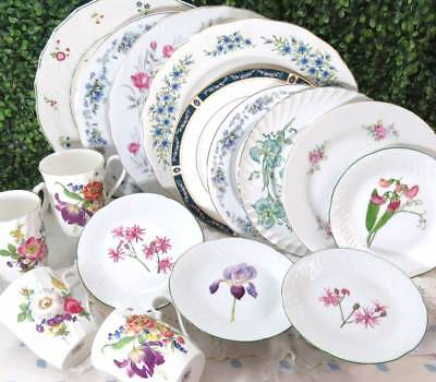 16 Pc Vintage Mismatched Fine China Dinnerware Set Service for 4 Colorful DS77 : mismatched dinnerware - Pezcame.Com