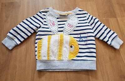 NEXT baby girls 6-9 months jumper bees knees bumble bee