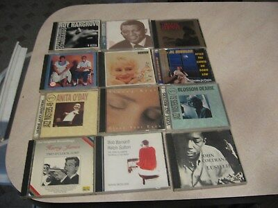 Mixed lot of 12 Jazz CD's nice shape-FROM ESTATE lot 5