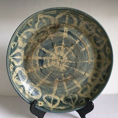 Vintage Early Mid Century Modern SOLVEIG COX Studio Pottery Stoneware Low BOWL