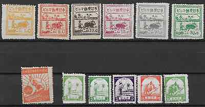 Burma Japan Occupation Lot Of Stamps With No Authentic Guarantee. Fine Not Gum