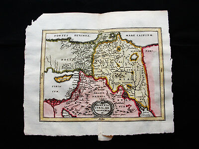 1676 VAN DER KEERE - orig. map: Asia Minor, Armenia, Georgia, Sirya, Middle East
