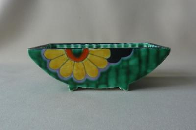 "RARE CROWN DEVON FIELDING'S "" MATTITA "" ART DECO FOOTED DISH c1930's"