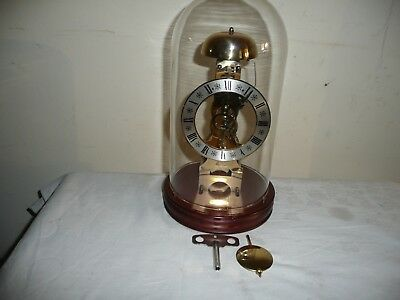 Vintage Hermle Skeleton Clock in Glass Dome, 791 - 080 Movement, Dated 1983.