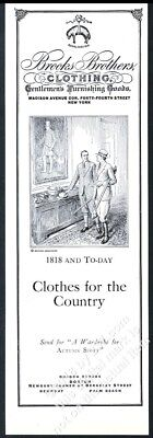 1930 Brooks Brothers men's hunting outfit sportcoat fashion vintage print ad