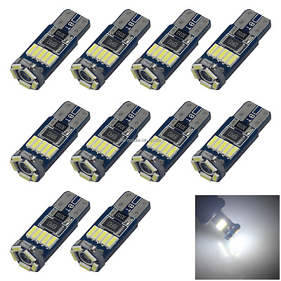 10x White RV T10 W5W Corner Light Reading Bulb Error Free 15 3014 SMD LED Z2888