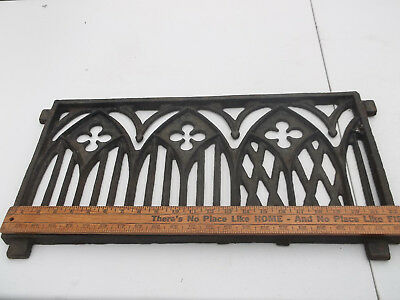 Antique  Cast Iron Metal Cathedral Window Brick Wall Grates
