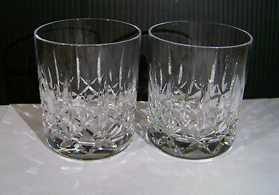 Waterford Crystal Mourne Double Old Fashioned Tumbler Glass Lot of 2