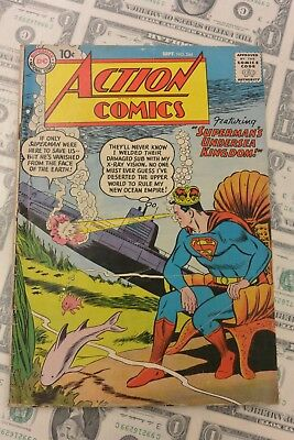 "Action Comics #244 DC September 1958 Featuring ""Superman's Undersea Kingdom!"""