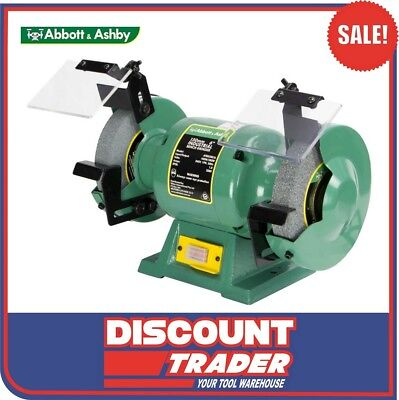 "Abbott & Ashby 280W 6"" 150mm Industrial Bench Grinder - ATBG280/6"