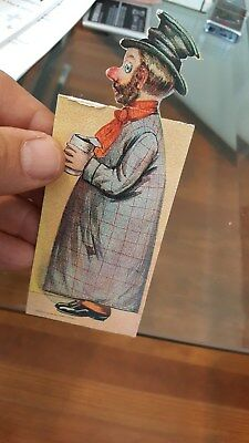 1905 Diecut Fold Out Card,Weary Willie Hobo..Advertises Golden West Coffee,Spice