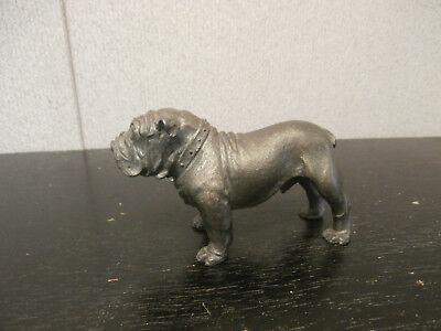 Vintage Phillip Kraczkowski RARE Pewter Figurine Bulldog Signed & Dated