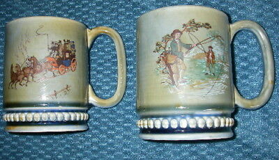 Wade Irish Porcelain England Mugs Fly Fishing Stagecoach