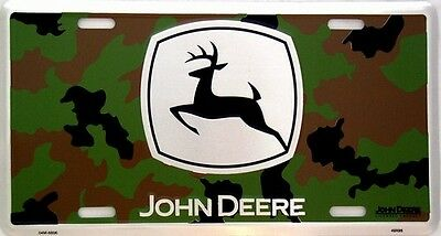 John Deere Camo Embossed License Plate (LP-080-301)