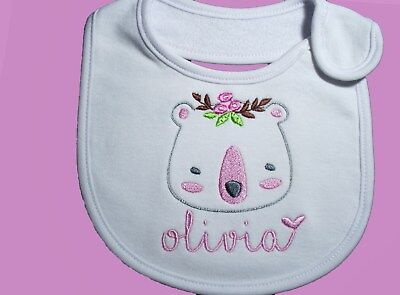 Personalised Baby Bib Any Name Gift Baby Shower /Creche/Twins/ Day care Cute Bib