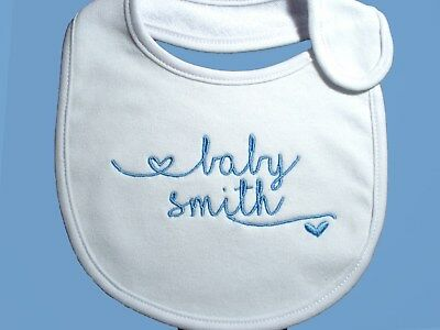 Personalised Baby Bib Gift Baby Shower /Creche/Twins/ Day care Cute Bib ANY NAME