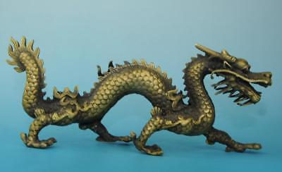 chinese antique old copper hand carved Chinese zodiac  dragon statue e01