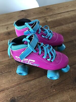 SFR Vision GT Pink And Turquoise Roller Boots Size 3
