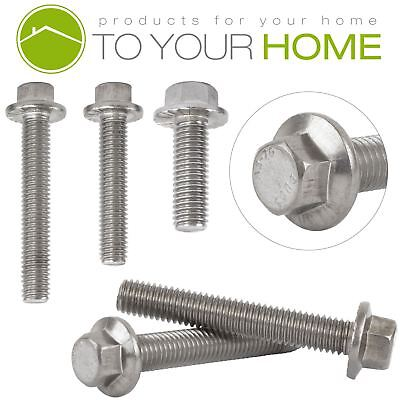 M6 Flanged Hexagon Head Bolts Flange Hex Screws A2 Stainless Steel