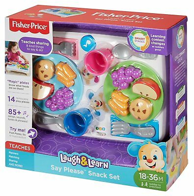 Fisher-Price Laugh & Learn Say Please Snack Set 85+ Song, Sound, Tune & Phrases