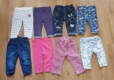 massive bundle baby girls 6-9 months trousers leggings x 8 pairs next matalan