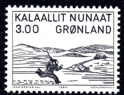 Greenland 1980 3 Krone Foot Race Mint Unhinged