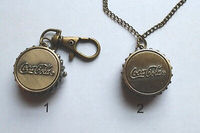 Coca Cola KEY CHAIN or Necklace Watch (Choice)