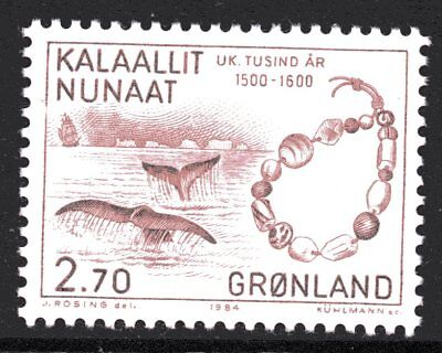 Greenland 1984 Whales and Beads Mint Unhinged