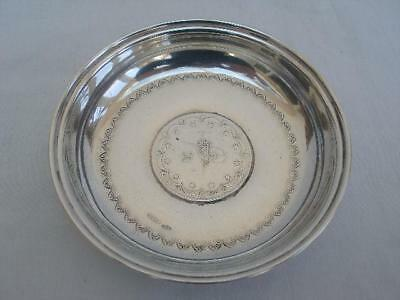 Good Persian Antique Solid Silver .800 Standard Coin Dish Stamped A.B.